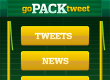 Go Pack Tweet iPad Application